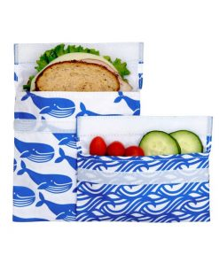 Lunchskins 2pack blue whale